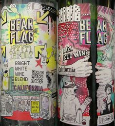 Bear Flag wine packaging