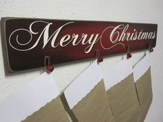 Red Stocking Wall Hanger Décor for Christmas by BornOnBonn on Etsy, $40.00