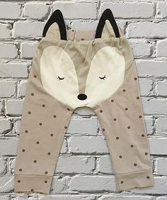 Look at this Little Mr. Hipster Gray & Black Fox Leggings - Infant on #zulily today!