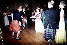 Queen Elizabeth II, in a white dress and tartan sash, takes to the floor with the Duke of… Tartan Sash, Tartan Dress, Elizabeth Philip, Queen Elizabeth Ii, Hm The Queen, Save The Queen, Prince Philip Mother, Royal Stewart Tartan, Casa Real