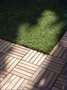 Wood Deck Tiles Over Grass