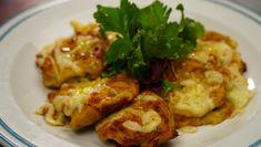 Cuketa v sýrovém těstíčku - pečená v troubě Cauliflower, Shrimp, Chicken, Vegetables, Cauliflowers, Vegetable Recipes, Cucumber, Veggies, Cubs