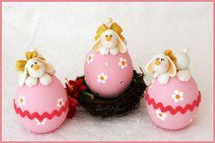 Huevos de Pascua / Uova di Pasqua   Flickr: Intercambio de fotos Happy Easter, Easter Bunny, Easter Eggs, Cake Pops, Biscuit, Rabbit Art, Pasta Flexible, Easter Party, Cold Porcelain