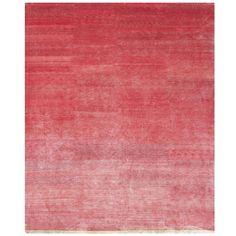 Raspberry pink silk carpet