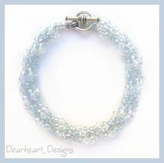 Swarovski Crystal Spiral Rope Bracelet by DearheartJewelry on Etsy, $29.50 (50% OFF right now!)