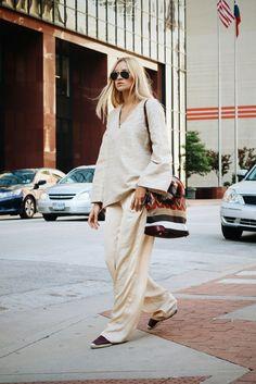 H&M top | Mango pants | Nina Suess