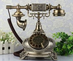 Cheap Telephones, Buy Directly from China Suppliers:vintage telephone rotary dial style classical ringtone resin material color black with redial function antique telephone