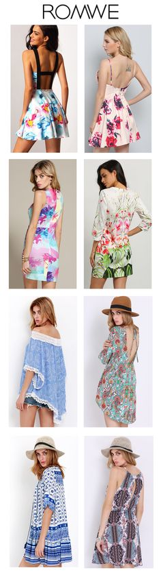 Floral dresses for summer. Skater dress, bodycon dress, high low dresses, shift dresses and more here. BIG SPRING, BLOWOUT.