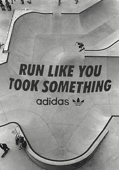 Adidas – Run Like You Took Something Typography Design Just Do It, Just In Case, Like You, My Love, Puma Wallpaper, Health And Wellness, Health Fitness, Fitness Humor, Fitness Quotes