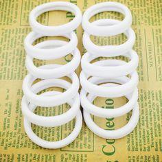 2015 New 50pcs/bag 40mm Pure White Hair Holders Rubber Bands Elastics Girl Women Tie Gum Fashion Free Shipping