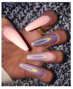 Light Pink Ballerina Nails ideas 53 Chic Natural Gel Nails Design Ideas For Coffin Nails - 31 Best Stiletto Nails Aycrlic Nails, Dope Nails, Pink Nails, Hair And Nails, Coffin Nails, Manicures, Nails 2018, Matte Nails, Nails On Fleek