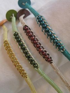 Layered Metallic or Glass Beaded Bracelets