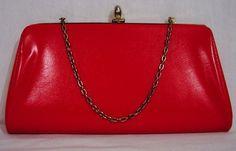 Etsy | vintage 60's red clutch - StyleSays