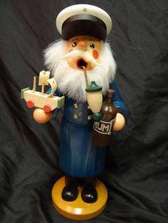 Santa Sailor w/ of Rum German Smoker Seiffener Incense Burner Christian Ulbricht #ChristianUlbricht