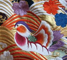 Japanese brocade silk