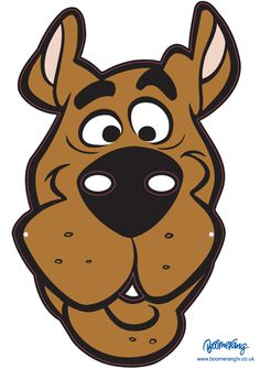 Click on the image to download this Scooby-Doo mask, print it out and wear it! Cut along all of the pink lines and attach a piece of string to the holes on the side to keep it in place.