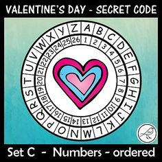 A super-fun activity for Valentine's Day. Make these secret code wheels and use them to write a secret message/card for someone special. Included: ♦ 15 templates (different pictures in each wheel). ♦ Joke - for your Ordering Numbers, Coding For Kids, Secret Code, Teacher Notes, Pirate Theme, Message Card, Classroom Resources, Print Templates, Chicago Cubs Logo