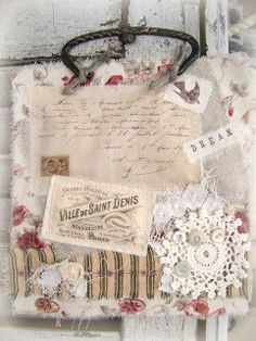 Gorgeous Fabric Collage by Carol Berger from Queen Bes Altered Needs!!