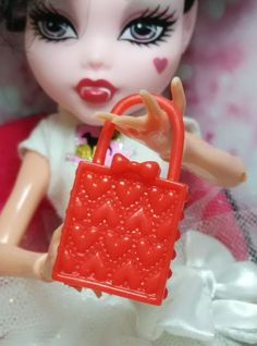 CHRISTMAS SALE 1 pc red retangle heart Doll house accessory barbie monster high