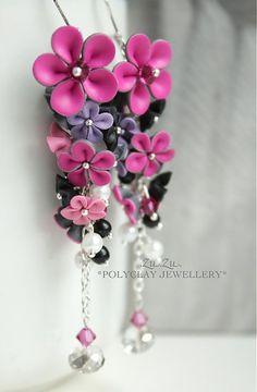 .Zu.Zu. / Pink! So romantic, so ready for Spring! Pink! by .Zu.Zu. - SAShE.sk - Handmade Náušnice