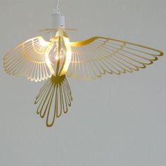 vogel lamp Hommin bird lamp in koper / brass bij keck & lisa Utrecht