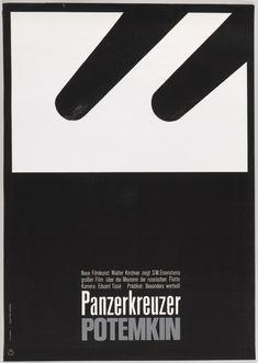 "Poster, ""The Battleship Potemkin"", ca. 1966 designed by Hans Hillmann"