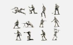 Silver Army Men | Cool Material