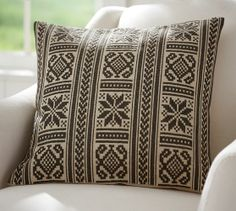 Martin Embroidered Pillow Cover | Pottery Barn