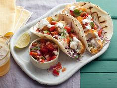 Look at this recipe - Tex Wasabi's Koi Fish Tacos - from Guy Fieri and other tasty dishes on Food Network. Seafood Recipes, Mexican Food Recipes, Ethnic Recipes, Seafood Dishes, Mexican Dinners, Mexican Cooking, Chicken Recipes, Vegetarian Recipes, Enchiladas
