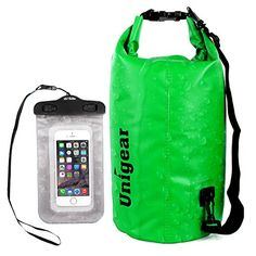 Dry Bag Sack, 20L Waterproof Floating Dry Gear Bags for Boating, Kayaking, Fishing, Rafting, Swimming, Camping and Snowboarding with Free Bonus Universal Waterproof Phone Case Bag (Green, 20L) Unigear http://www.amazon.com/dp/B00ZEGTVH8/ref=cm_sw_r_pi_dp_HUeSvb17BTES0