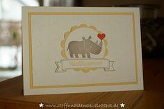 Stoff und Stempel / Babykarte / Zoo Babies / Eins für alles / Stampin'Up!