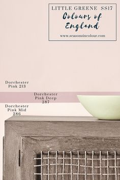 Dorchester Pink Mid and Deep on the wall | eclectic and romantic interiors | Interior decor and paint | Little Greene Colours of England Colour Card | Spring 2017
