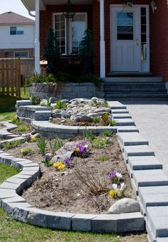 Small and beautiful #gardening in #front-yard makes it more dulcet.