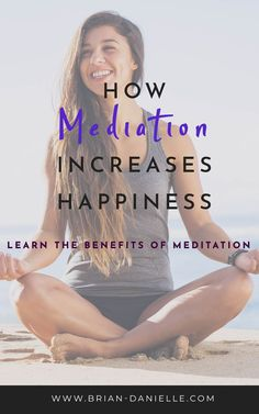 Benefits of Daily Meditation: Go Beyond the Noisy Chatter Mediation can increase happiness and well being. Learn the benefits of mediation. Mediation for beginners, meditation mindfulness. Meditation Benefits, Daily Meditation, Meditation Practices, Mindfulness Meditation, Meditation Exercises, Yoga Exercises, Stretches, Health Benefits, Health Tips