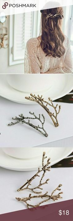 Branch Hairpin Set > gold or silver tone > alloy  > new > bundle & save > use offer button Accessories