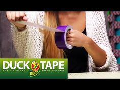 Duck Tape Crafts: Tips and Techniques with LaurDIY - YouTube