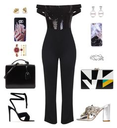 """""""Inighi Sequin Detail Jumpsuit"""" by eme-bassey on Polyvore featuring Gianvito Rossi, Mark Cross, Anne Klein, Ruth Tomlinson, David Yurman, GEDEBE and Charlotte Olympia"""