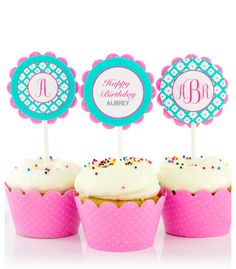 Personalized kids party cupcake toppers в 2019 г. cupcake to Monogram Cupcakes, Turtle Birthday Parties, Turtle Party, 12 Cupcakes, Cupcake Party, Chevron Monogram, One Dish Dinners, Sweet Potato Protein, Party