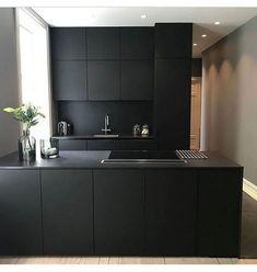 20 Elegant Black Kitchen Design Ideas You Need To Try Black Kitchen Cabinets black Design Elegant ideas kitchen Black Kitchen Cabinets, Kitchen Cabinet Design, Black Kitchens, Modern Kitchen Design, Ikea Kitchen, Interior Design Kitchen, Kitchen Furniture, Kitchen Decor, Kitchen Ideas