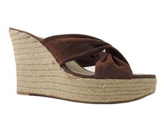 Nine West Women's Jocelyn Wedge Sandals Brown Suede Size 11 M #NineWest #PlatformsWedges