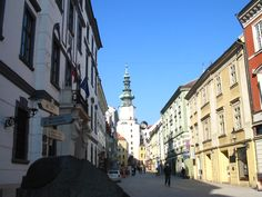 "A typical scene from the ""Old Town"" in Slovakia's capital city, Bratislava."