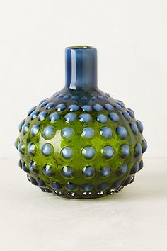 Hobnail Vase by Anthropologie from Anthropologie. Saved to Glass Menagerie. Living Room Inspiration, Home Decor Inspiration, Vases, Green Vase, Ceramic Clay, Pottery Art, Home Accessories, Decorative Pillows, Glass Art