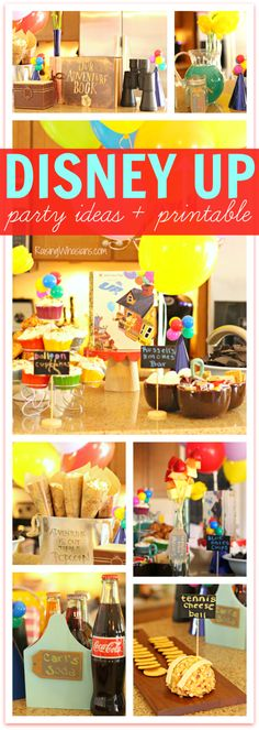 Disney Up Party Ideas + FREE Printable Up House Kids Craft   Food, decor, crafts & themes - Raising Whasians
