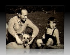 My+Dad+(the+late+John+J+Reid+and+I+(Ninian+Reid)+in+our+back+garden+at+Craiglockhart+(1947+?).+The+dog,+I+think,+belonged+to+a+Chinese+neighbour+called+Eni+Lee+(sic)