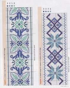 This Pin was discovered by Ela Cross Stitch Bookmarks, Cross Stitch Borders, Counted Cross Stitch Patterns, Cross Stitch Designs, Cross Stitching, Cross Stitch Embroidery, Hand Embroidery, Needlepoint Patterns, Embroidery Patterns