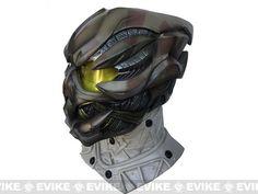Evike.com R-Custom Fiberglass Full Helmet w/ High Impact Lens Gunner - Brown