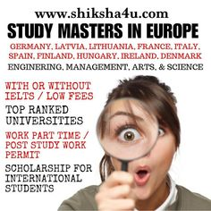 Study Masters in Europe 🎓 Overseas Education, Ielts, Lithuania, Hungary, Finland, Denmark, Masters, Spain, Germany
