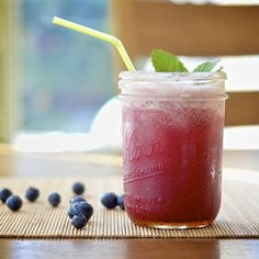 Blueberry-Mint Margarita