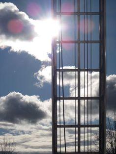 sun through scaffolding
