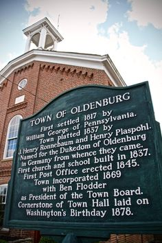 """Merely an hour west of Cincinnati and named after a town in Germany, Oldenburg (Indiana) was founded in 1837 by German immigrants and is known as the """"Village of Spires"""" due to its high density of churches and religious centers. It is generally regarded as one of the most authentically German towns left in the Midwest. / Image: Christi Scott / Published: 11.4.16"""